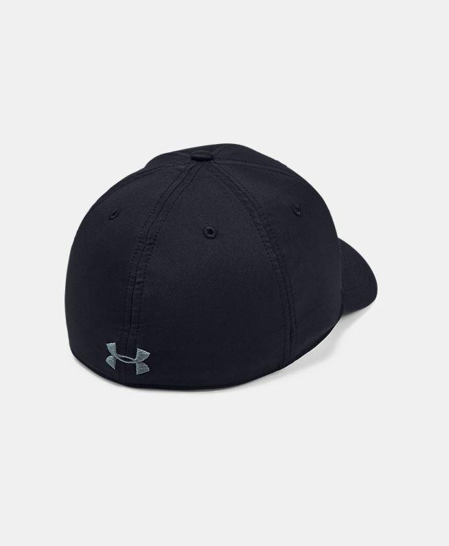 男士UA Wordmark Stretch Fit运动帽