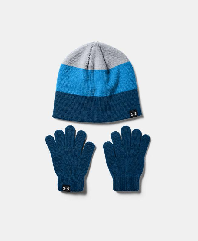 男童UA小圆帽手套两件套