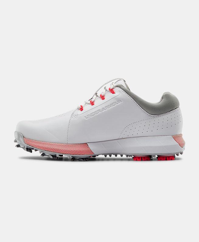 女士UA HOVR Drive Clarino高尔夫鞋