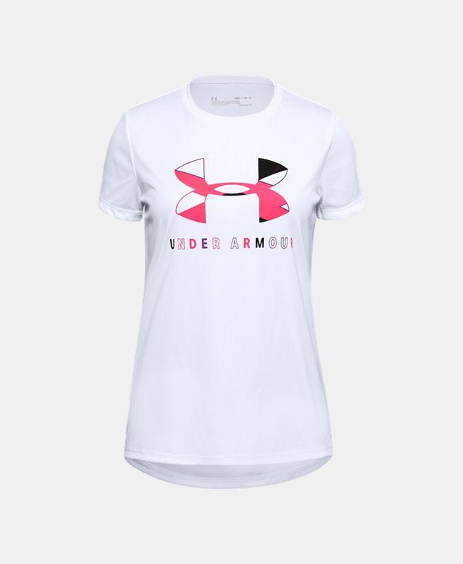 女童UA Tech Big Logo短袖T恤