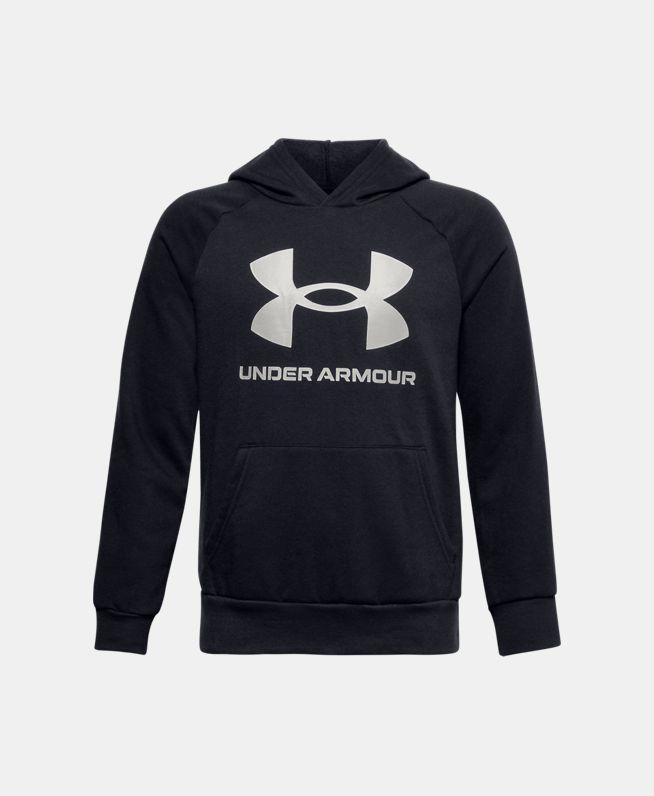 男童UA Rival Big Logo抓绒连帽上衣