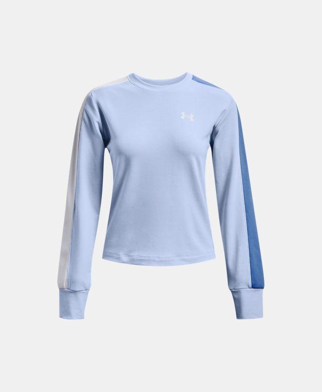 女士UA Rival Terry Colorblock圆领运动衣