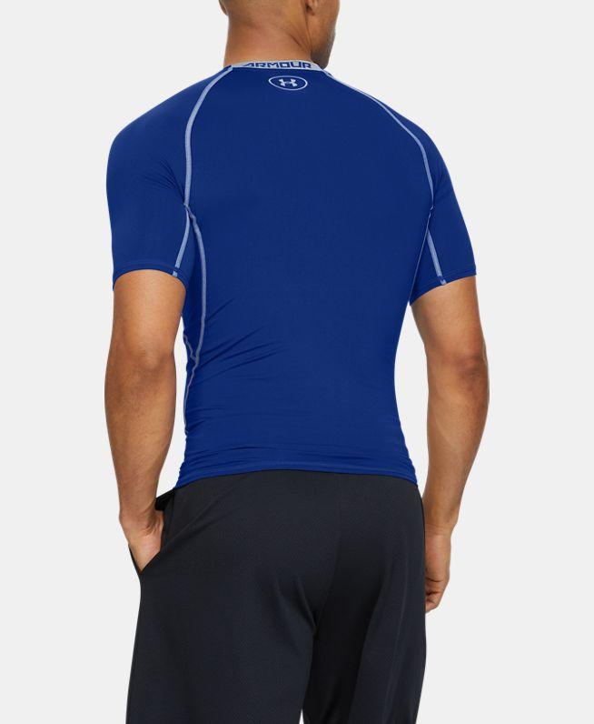 男士UA HeatGear® Armour短袖强力伸缩型运动上衣