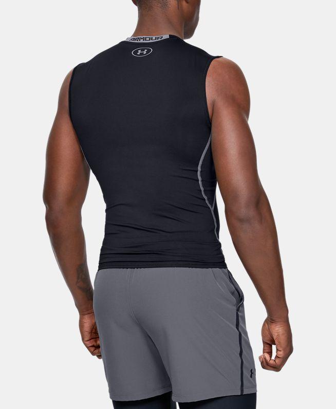 男士UA HeatGear®Armour强力伸缩型无袖T恤