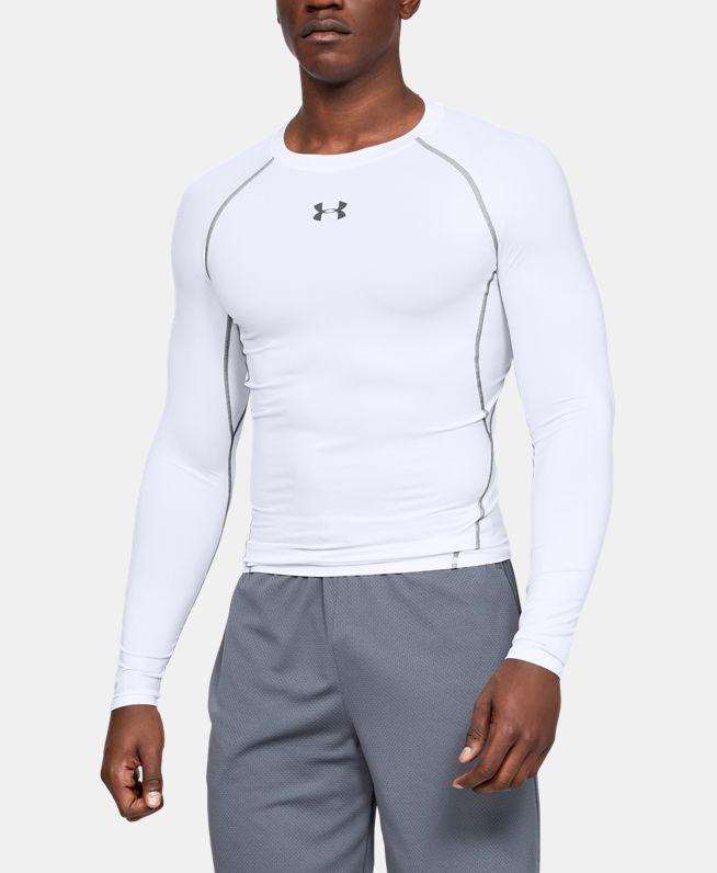 男士UA HeatGear® Armour长袖强力伸缩型运动上衣