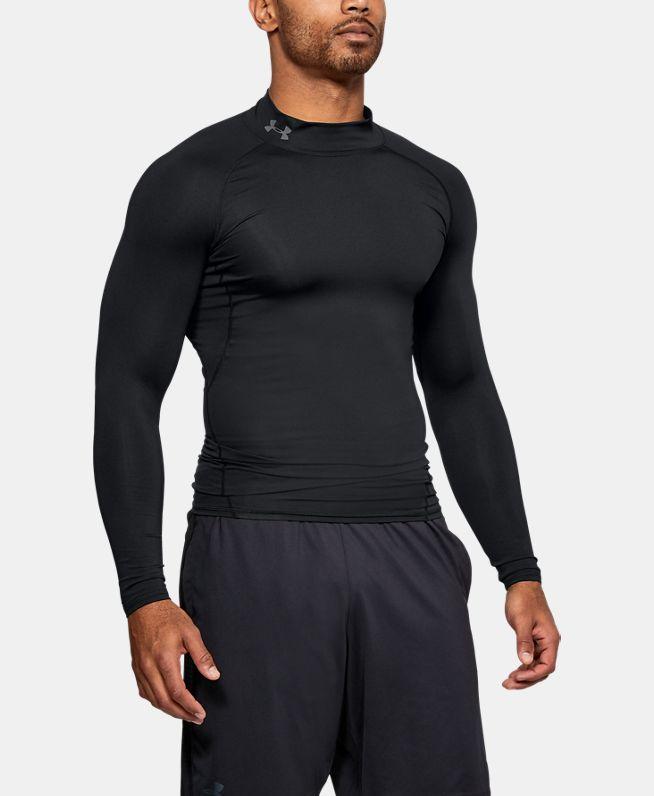男士UA HeatGear® Armour强力伸缩型长袖高领运动衣