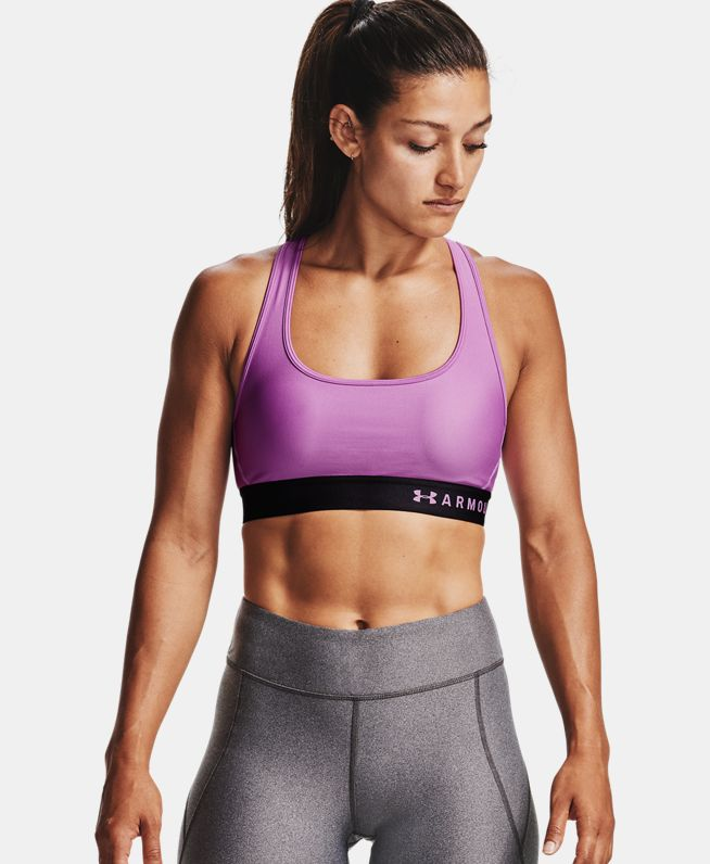 女士UA Armour Crossback含胸垫运动内衣—中强度