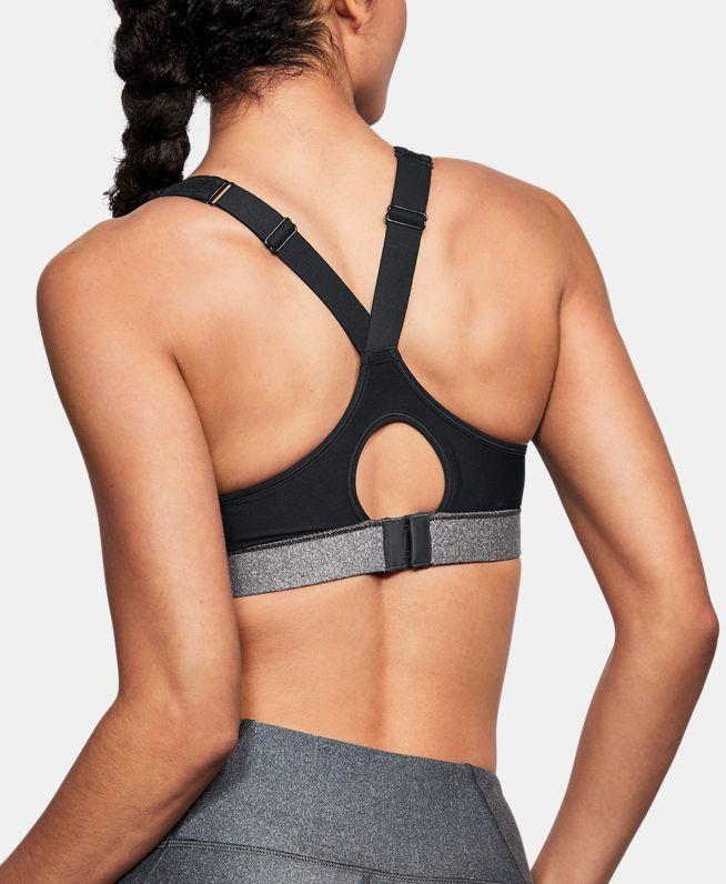 女士UA HeatGear® ArmourHeathered含胸垫运动内衣—高强度