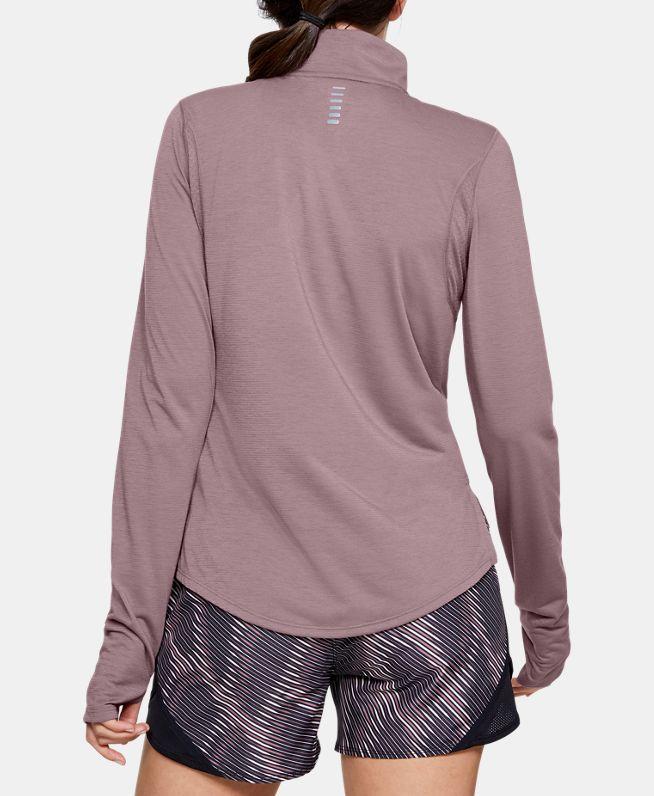 女士UA Streaker 1/2拉链运动上衣