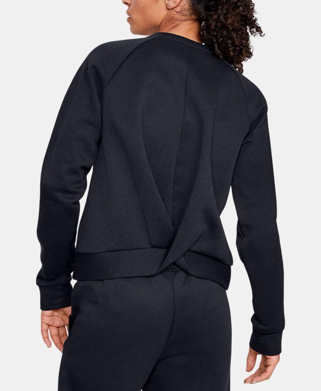 女士UA Recovery Fleece Script圆领运动衣
