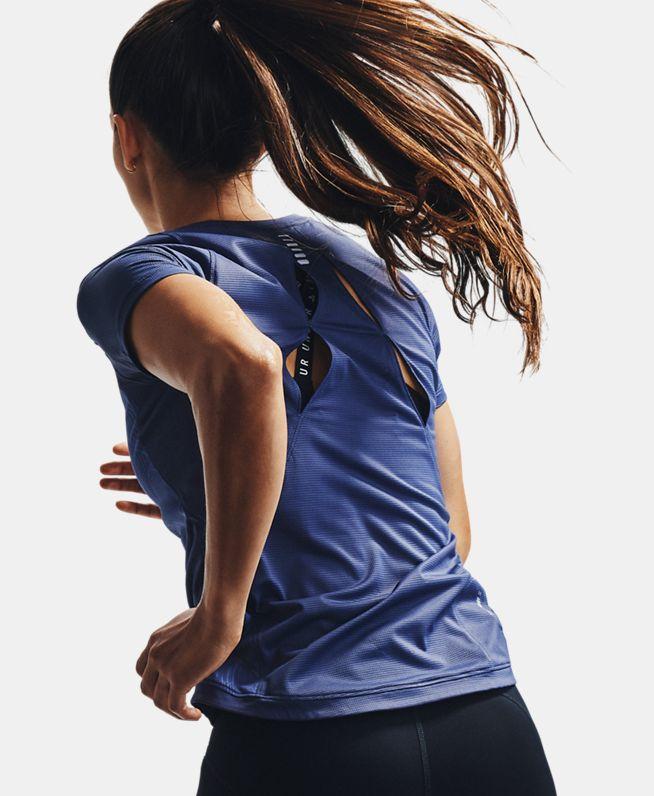 女士UA Qualifier Iso—Chill Embossed短袖T恤