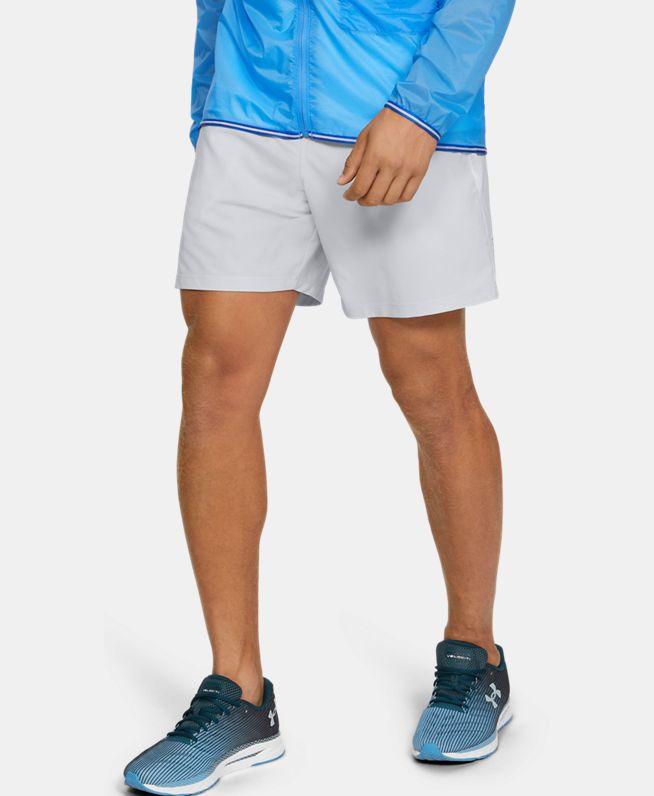 男士UA Qualifier Speedpocket Branded Linerless 7英寸短裤