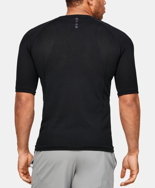男士UA RUSH Seamless强力伸缩型短袖T恤