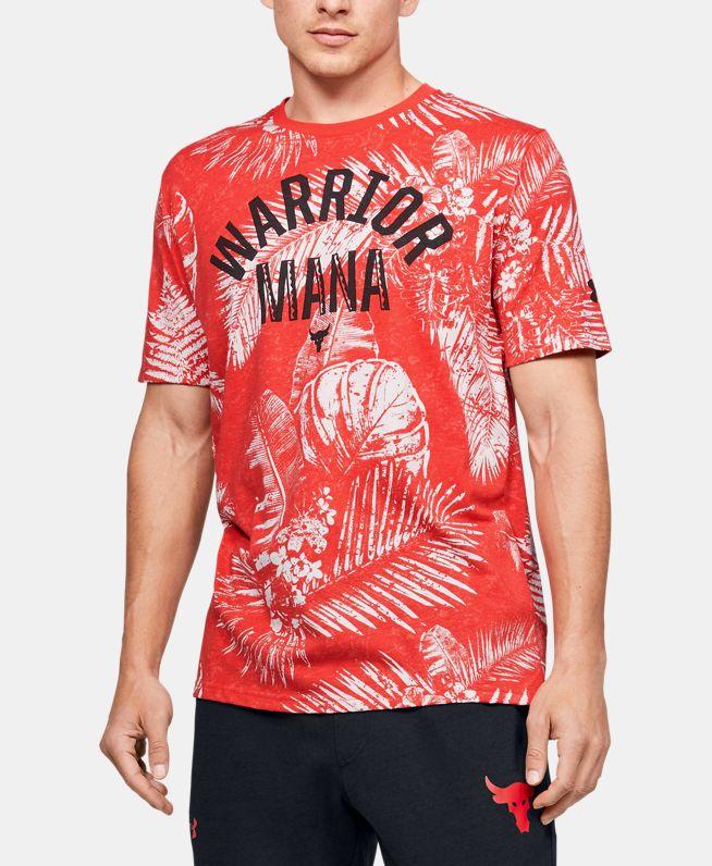 男士Project Rock Aloha Camo短袖T恤