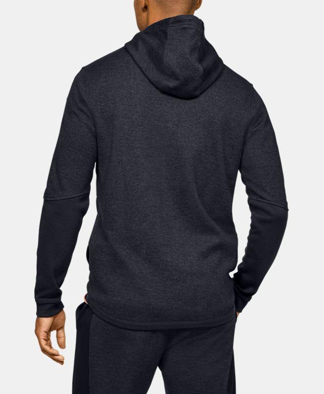 男士UA拉链双面针织连帽上衣