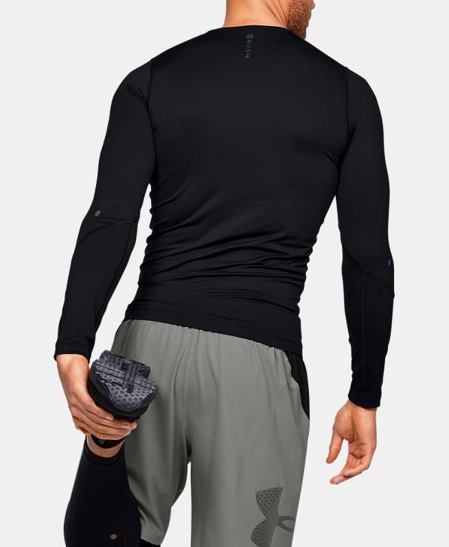 男士UA RUSH HeatGear®强力伸缩型长袖运动衣