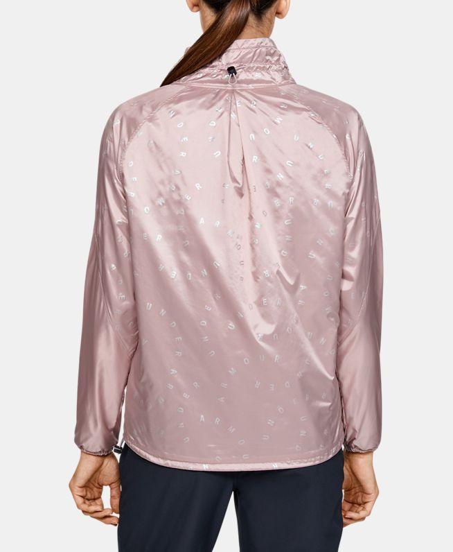 女士UA Recovery Woven Iridescent拉链衫