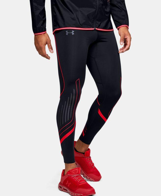 男士UA Qualifier Speedpocket HeatGear® Graphic紧身裤