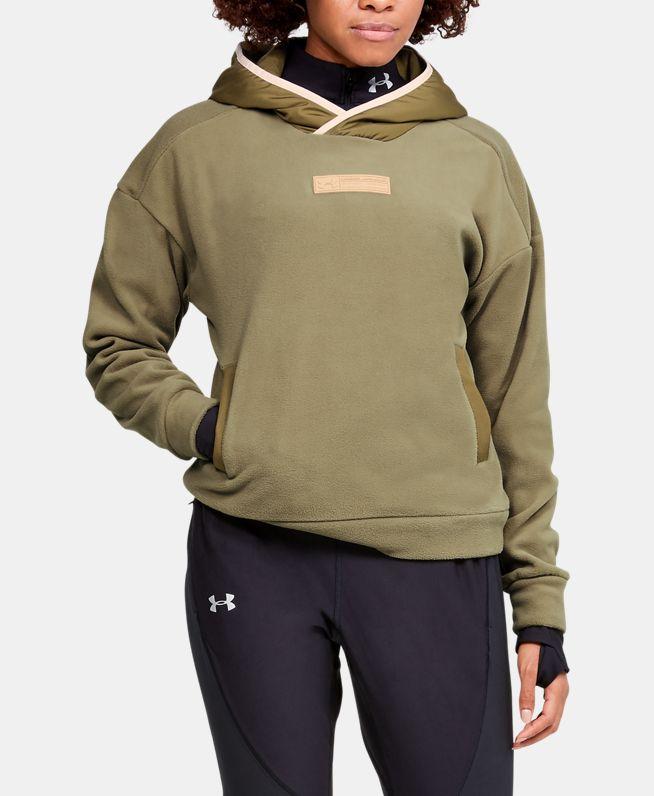 女士UA Trek Polar Fleece连帽上衣