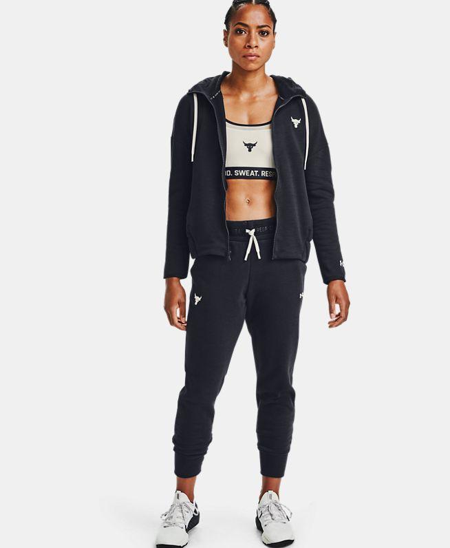 女士Project Rock Charged Cotton®抓绒长裤