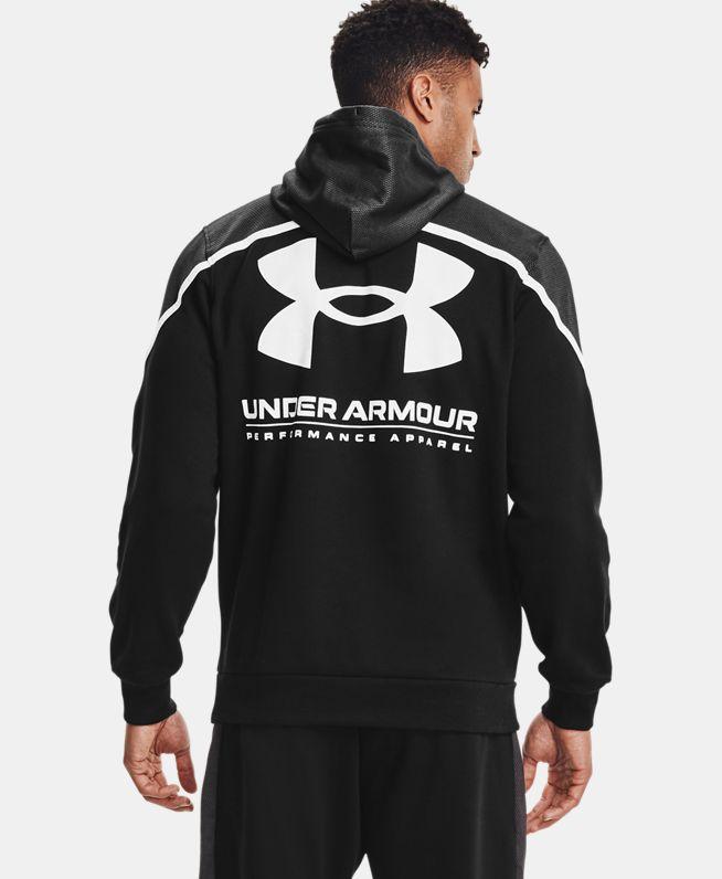 男士UA Rival AMP抓绒连帽上衣