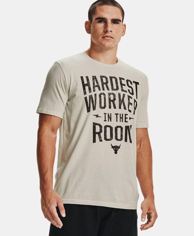 男士Project Rock Hardest Worker短袖T恤