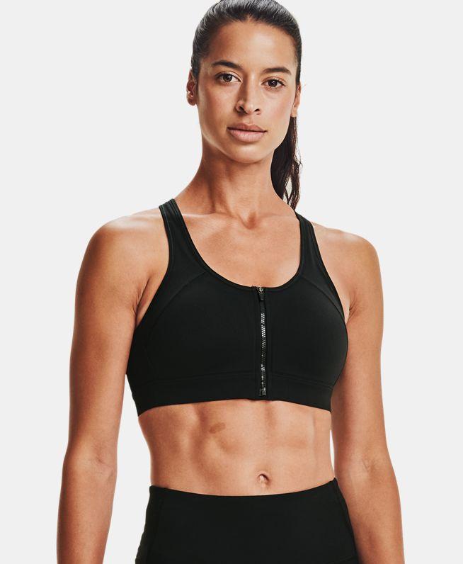 女士UA DFO Reflect Zip运动内衣—高强度
