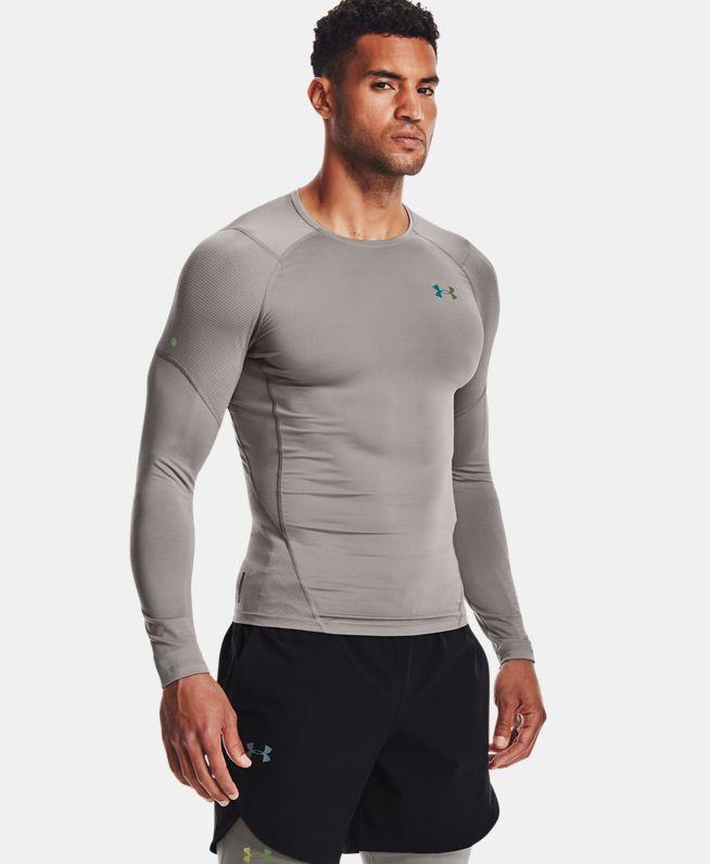 男士UA RUSH HeatGear® 2.0强力伸缩型长袖上衣