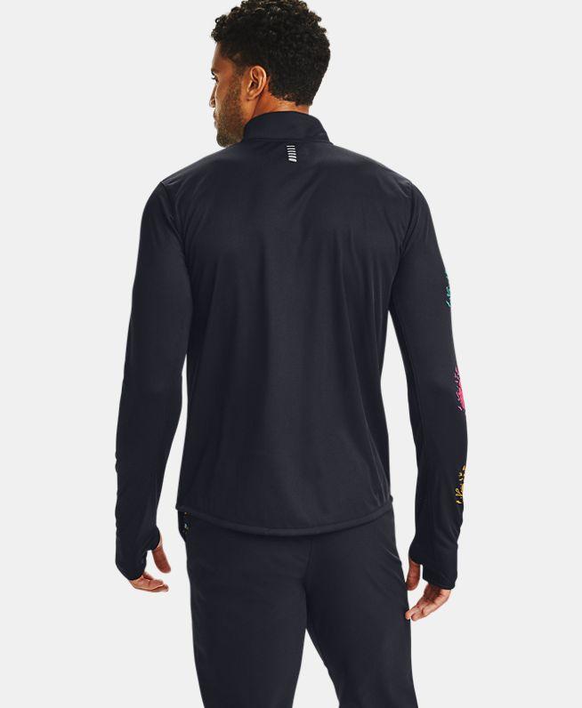 男士UA Speed Stride DOD 1/2拉链运动上衣