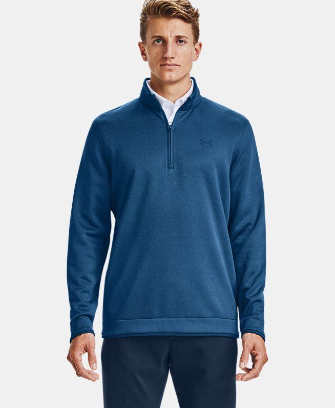 男士UA Storm SweaterFleece1/2拉链运动上衣