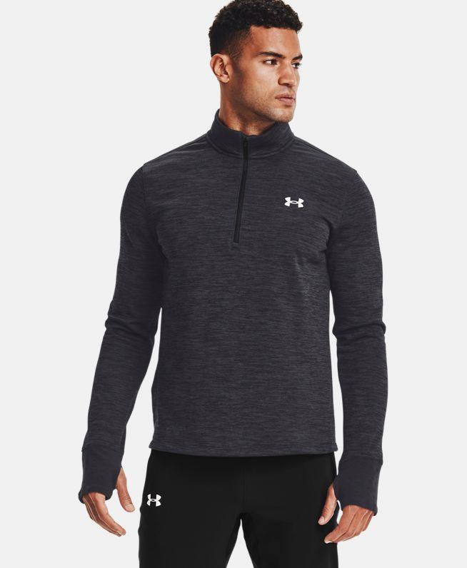 男士UA Discover 1/2拉链跑步上衣