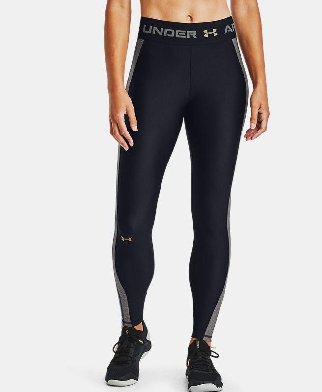 女士HeatGear® Armour Wordmark Waistband紧身裤