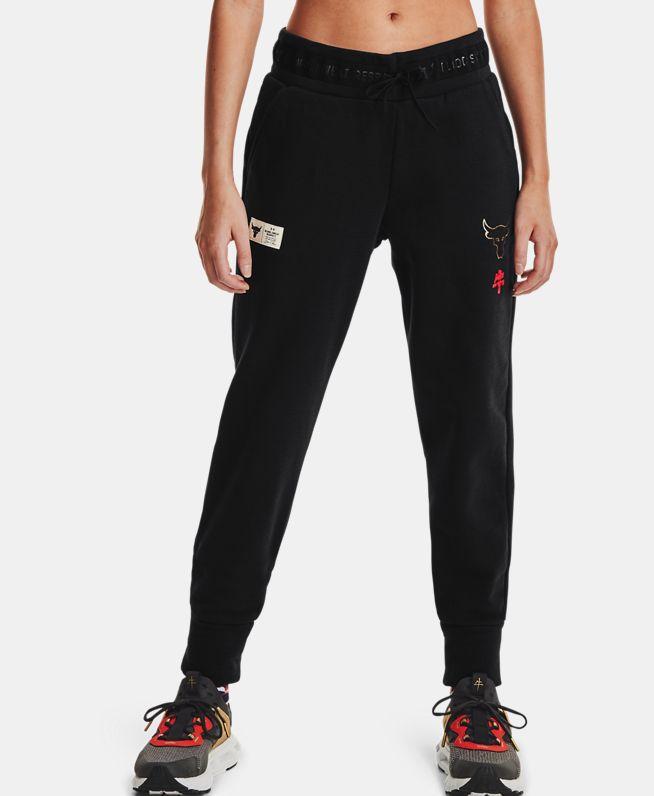 女士Project Rock CNY Charged Cotton®新春系列抓绒长裤