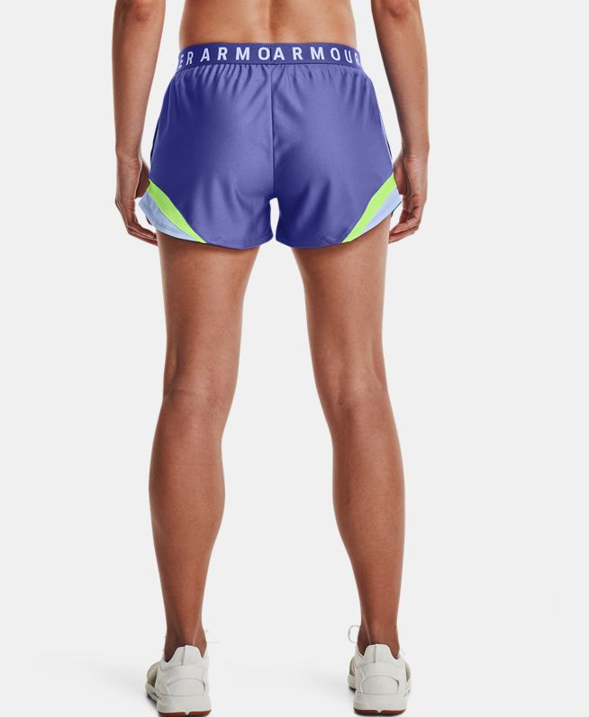 女士UA Play Up 3.0 Tri Color短裤