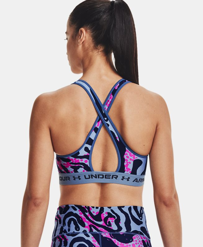 女士Armour Crossback印花运动内衣—中强度