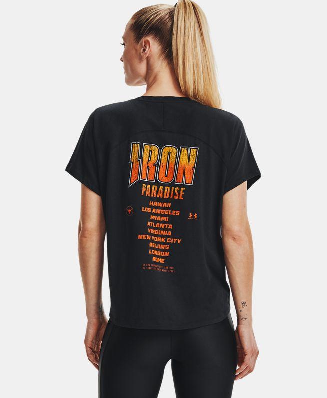 女士Project Rock强森Bull短袖T恤