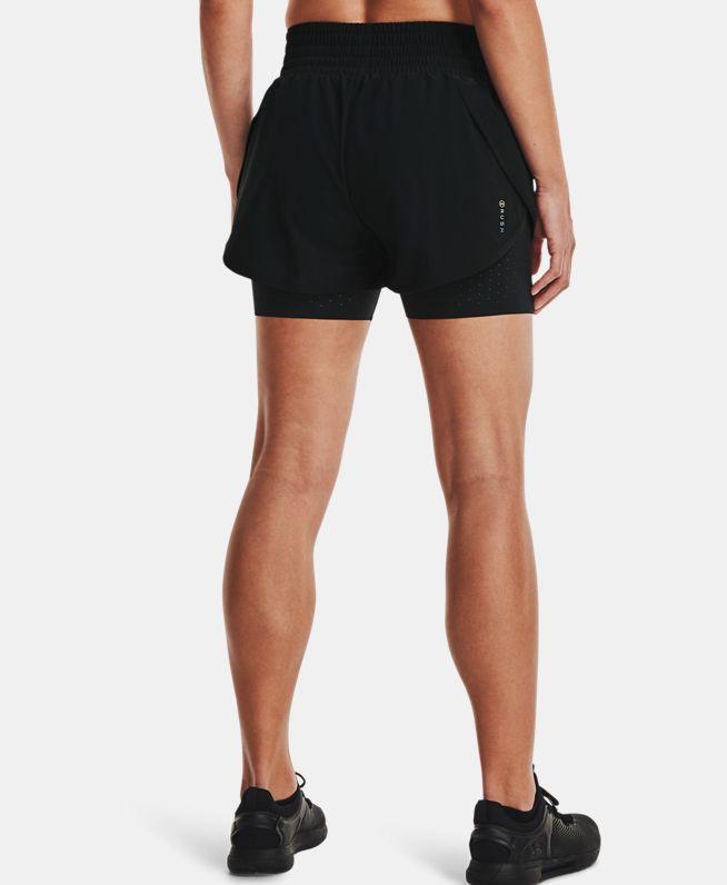 女士UA RUSH二合一梭织短裤