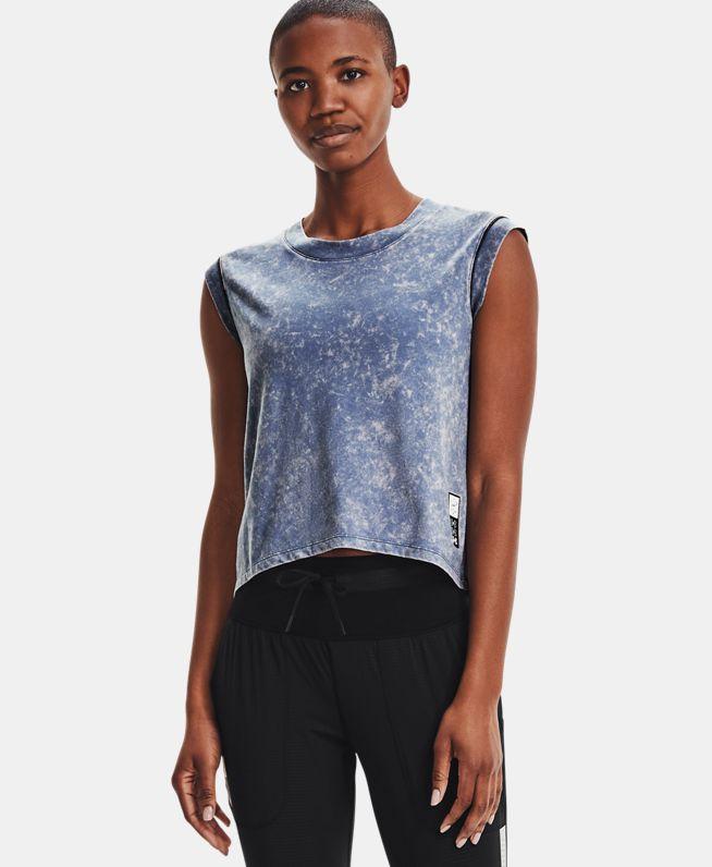 女士UA Anywhere跑步短袖T恤