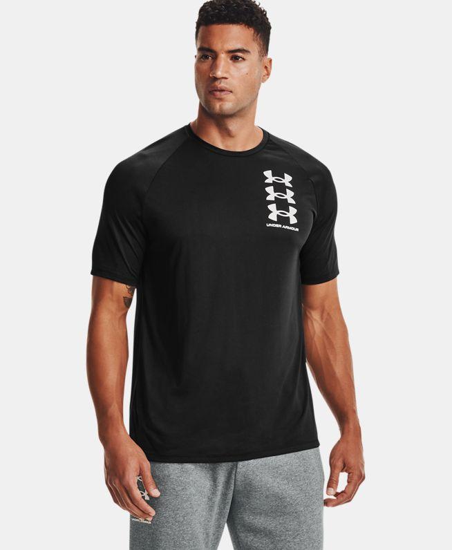 男士UA Tech Triple Logo短袖T恤