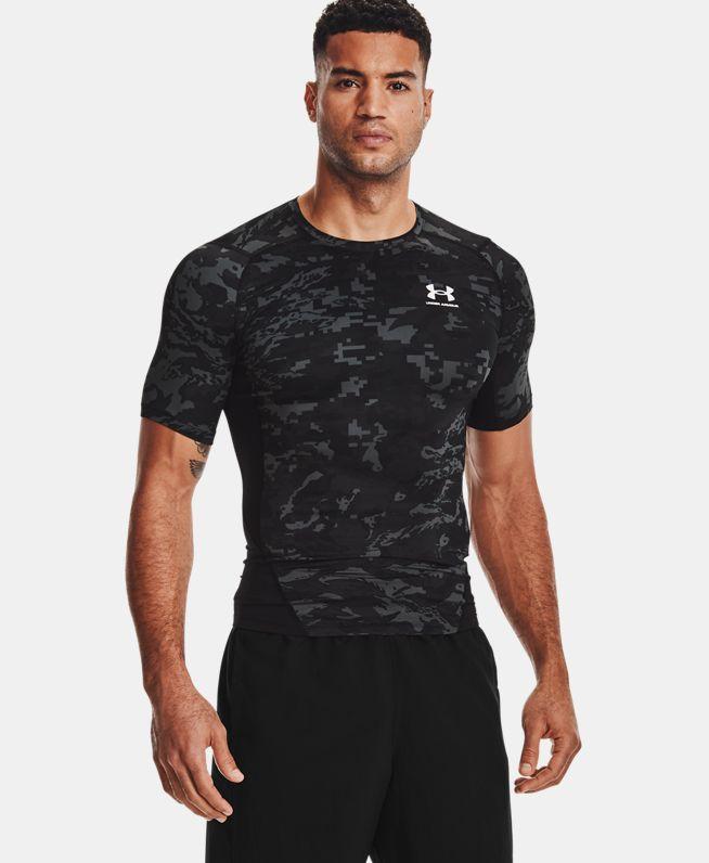 男士UA HeatGear® Armour Camo短袖T恤