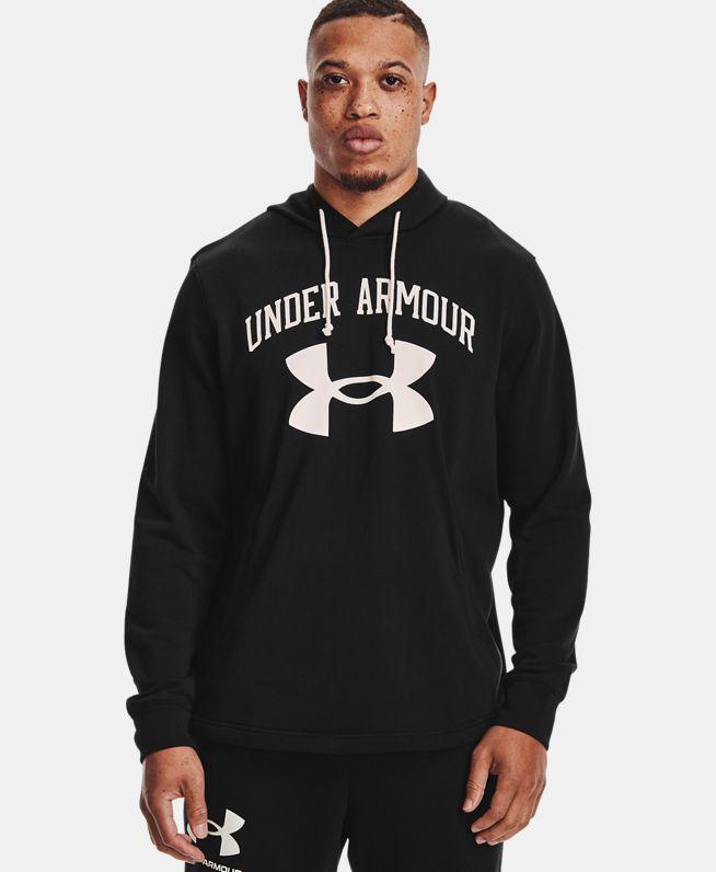 男士UA Rival Terry Big Logo连帽上衣