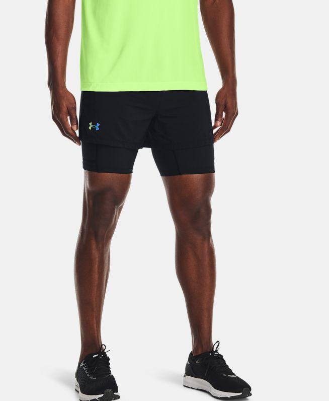 男士UA RUSH二合一跑步短裤