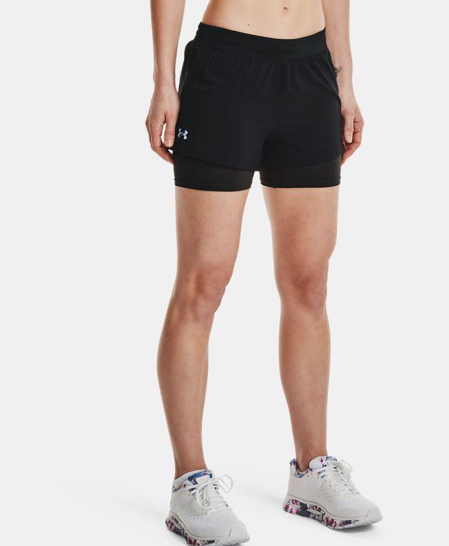 女士UA Iso-Chill二合一跑步短裤
