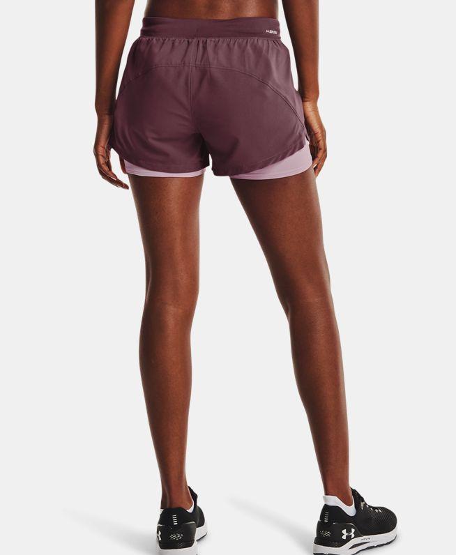 女士UA Iso-Chill 2合1跑步短裤