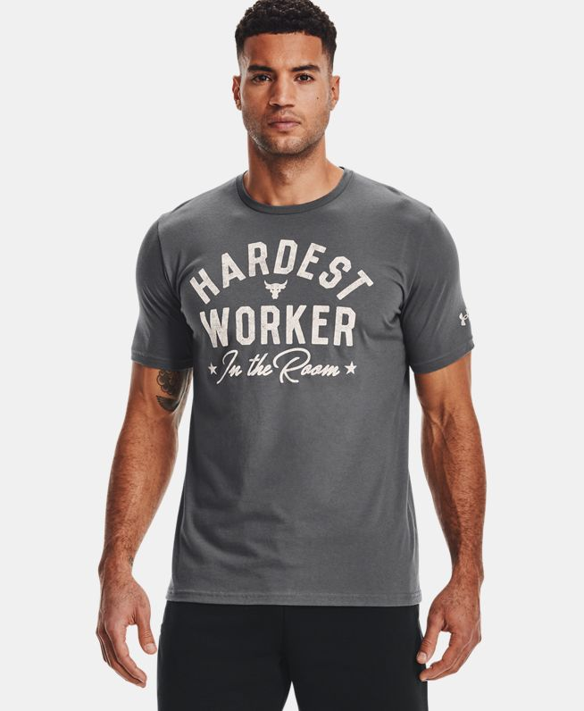 男士Project Rock强森Hard Worker短袖T恤