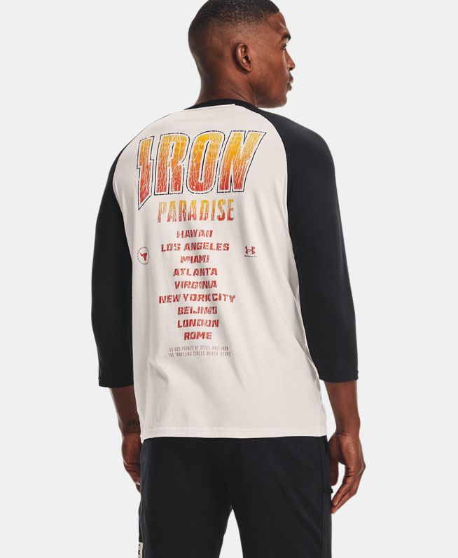 男士Project Rock强森BSR七分袖上衣
