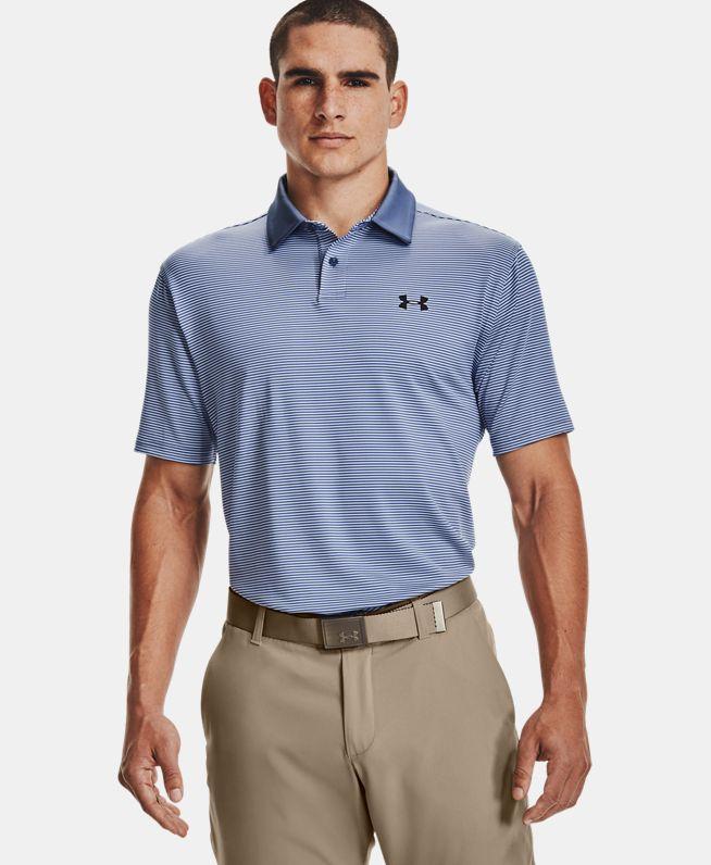 男士UA Performance条纹Polo衫