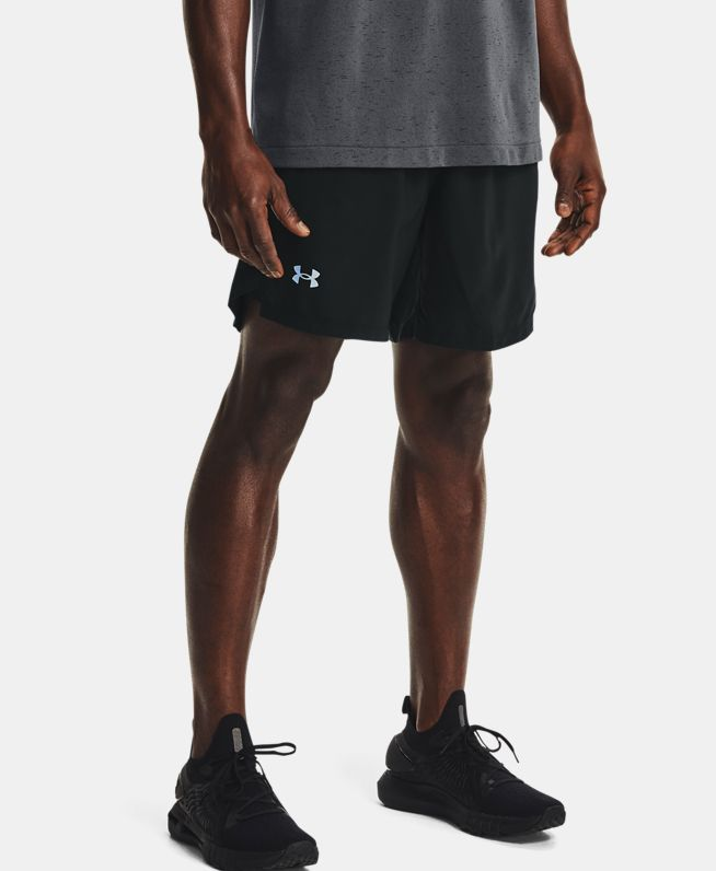 男士UA Launch二合一印花跑步短裤