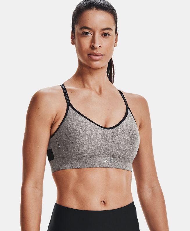 女士UA Infinity Heather Cover运动内衣—低强度