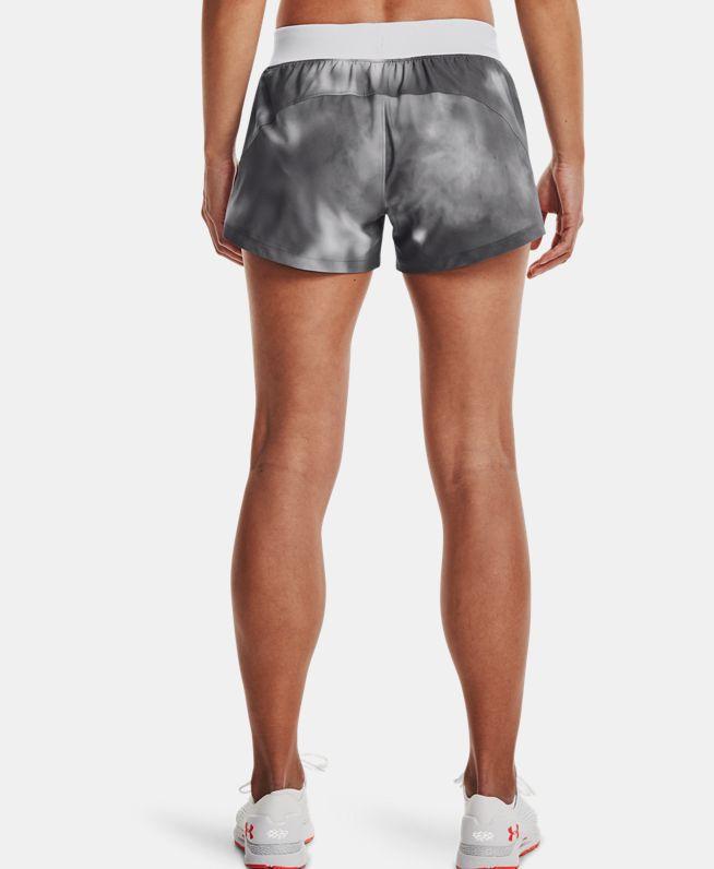 女士UA Launch SW 3英寸印花短裤